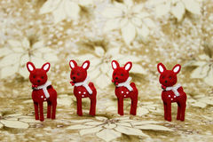 Red Reindeer Stock Photography