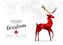 Red reindeer decoration for Christmas and New Year Royalty Free Stock Photo