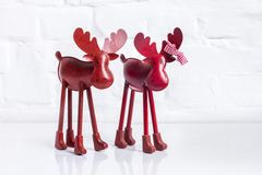 Red reindeer Royalty Free Stock Image