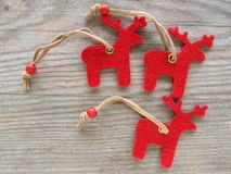 Red reindeers Royalty Free Stock Photos