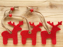 Red reindeers Royalty Free Stock Image