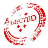Red rejected stamp Stock Photos