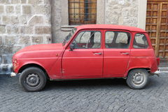 Red Renault 4 Stock Photography