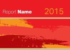 Red Report cover 2015. Red Report cover for your company 2015 Royalty Free Stock Images