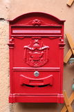 Red reproduction of wall mailbox of italian Royalty Free Stock Image