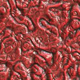 Red reptile skin Royalty Free Stock Photo