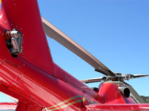 Red Rescue. Medical evacuation rescue helicopter, prepared for take off Royalty Free Stock Photos