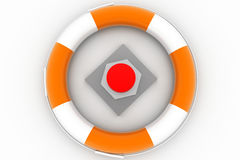 Red Rescue Button Royalty Free Stock Images