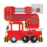 Red Rescue car 2 royalty free stock photography