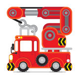 Red Rescue car 3 royalty free stock image