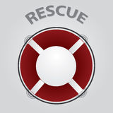 Red rescue circle eps10 Stock Photo