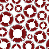 Red rescue circle pattern Stock Image