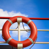 Red rescue ring Royalty Free Stock Photo
