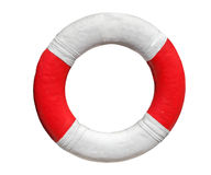 Red rescue ring on white Stock Photos