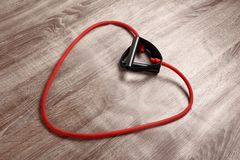 Red resistance band Royalty Free Stock Photos