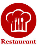 Red restaurant icon Royalty Free Stock Image