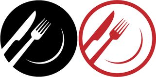 Red restaurant icons vector illustration