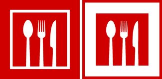 Red  restaurant icons Stock Photography
