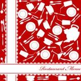 Red restaurant menu Stock Image