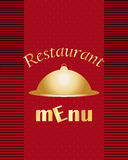 Red Restaurant menu Royalty Free Stock Photo