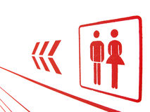 Red Restroom sign Royalty Free Stock Photo