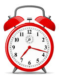 Red retro alarm clock Royalty Free Stock Photography