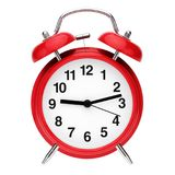 Red retro alarm clock Royalty Free Stock Images