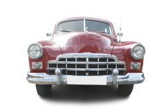 Red retro automobile. Isolated on white Royalty Free Stock Image