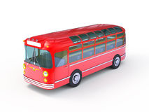 Red retro bus Stock Photo
