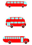 Red retro bus Royalty Free Stock Images