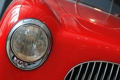 Red retro car. Fragment of red retro car Stock Image
