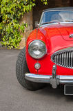 Red retro car details Royalty Free Stock Images