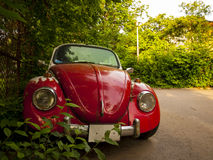 Red retro car. Front view of a red retro car Stock Images