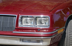 Red retro car headlight Stock Image