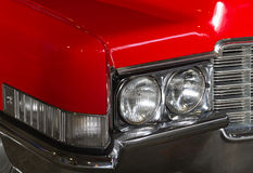 Red retro car headlights Stock Image