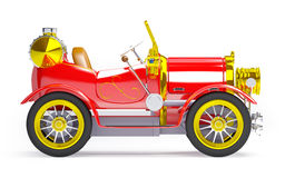 1910 red retro car side view Royalty Free Stock Photos