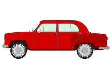 Red retro car. Stock Photo