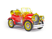 1910 red retro car Stock Image
