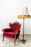 Red Retro Chair Lamp Stock Photos
