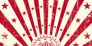 Red retro circus invitation Royalty Free Stock Image
