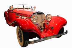 Red retro convertible Royalty Free Stock Photo