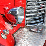 Retro fire truck fragment Royalty Free Stock Images