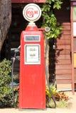 Red retro gasoline pump Stock Photo
