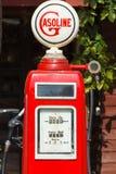 Red retro gasoline pump Stock Photos