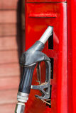 Red retro gasoline pump Royalty Free Stock Image