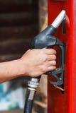 Red retro gasoline pump Royalty Free Stock Photos