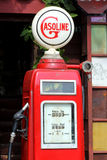 Red retro gasoline pump Stock Photo