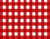 Red retro gingham check Royalty Free Stock Images