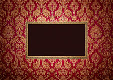 Red retro interior with empty exposition Royalty Free Stock Photos