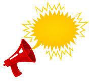 Red retro megaphone. Royalty Free Stock Photography